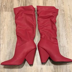 New Calf Cone Heel Boots